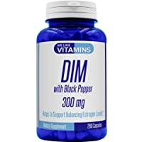 DIM 300mg with Black Pepper - 200 Capsules - 200 Day Supply - Diindolylmethane DIM...