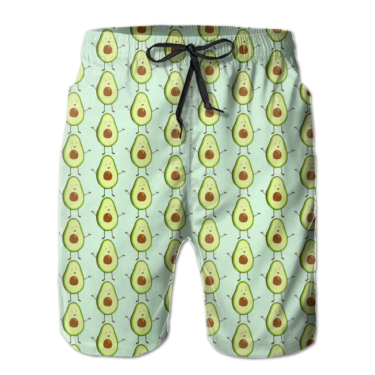 EYFlife Cute Avocado Men/â/€s Beach Board Shorts Quick Dry Swim Truck Shorts