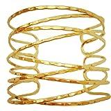 "OCTCHOCO Simple Gold Swirl Arm Cuff Fashion Armlet Armband Bangle Bracelet 2.8"" Adjustable"