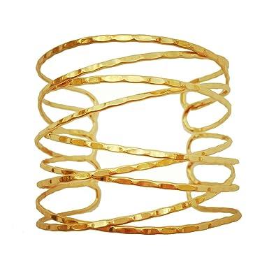 Amazon OCTCHOCO Simple Gold Swirl Arm Cuff Fashion Armlet