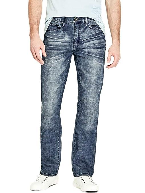 75dd43dc2b12f Guess Factory Men's Delmar Slim Straight Jeans: Amazon.ca: Clothing &  Accessories