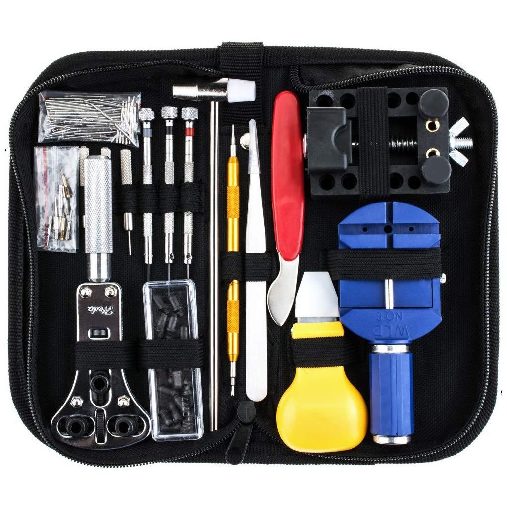 Shoresu Watch Repair Tools, 147Pieces Kit Case Opener Link Spring Bar Remover Watchmaker Tool