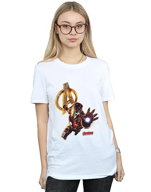 Marvel Mujer Iron Man Pose Camiseta del Novio Fit Small Blanco. Pasa el  ratón por encima de ... c918faedb58c9