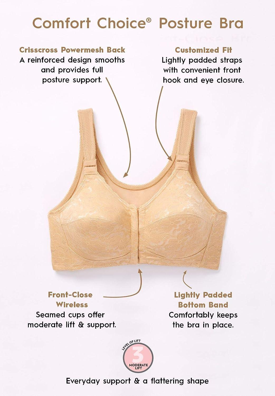 45c27cadb95ab Comfort Choice Women s Plus Size Lace Posture Bra at Amazon Women s  Clothing store