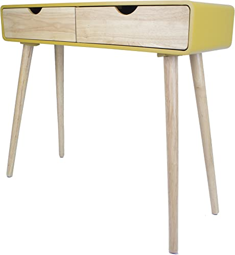 Heather Ann Creations Euro Collection Console Table, Yellow