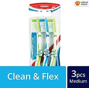 Aquafresh Everyday Clean Medium Toothbrush, 3ct