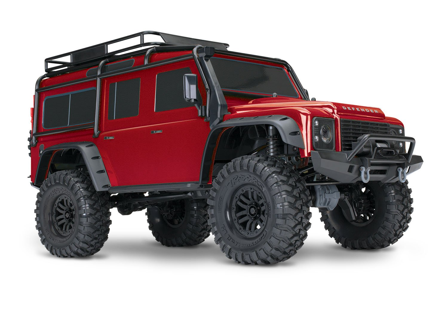Traxxas 1 10 Scale Trx 4 And Trail Crawler With Tips On Powering Rc Servos Receivers Radios Vehicles Lipos 24ghz Tqi Radio Red Toys Games