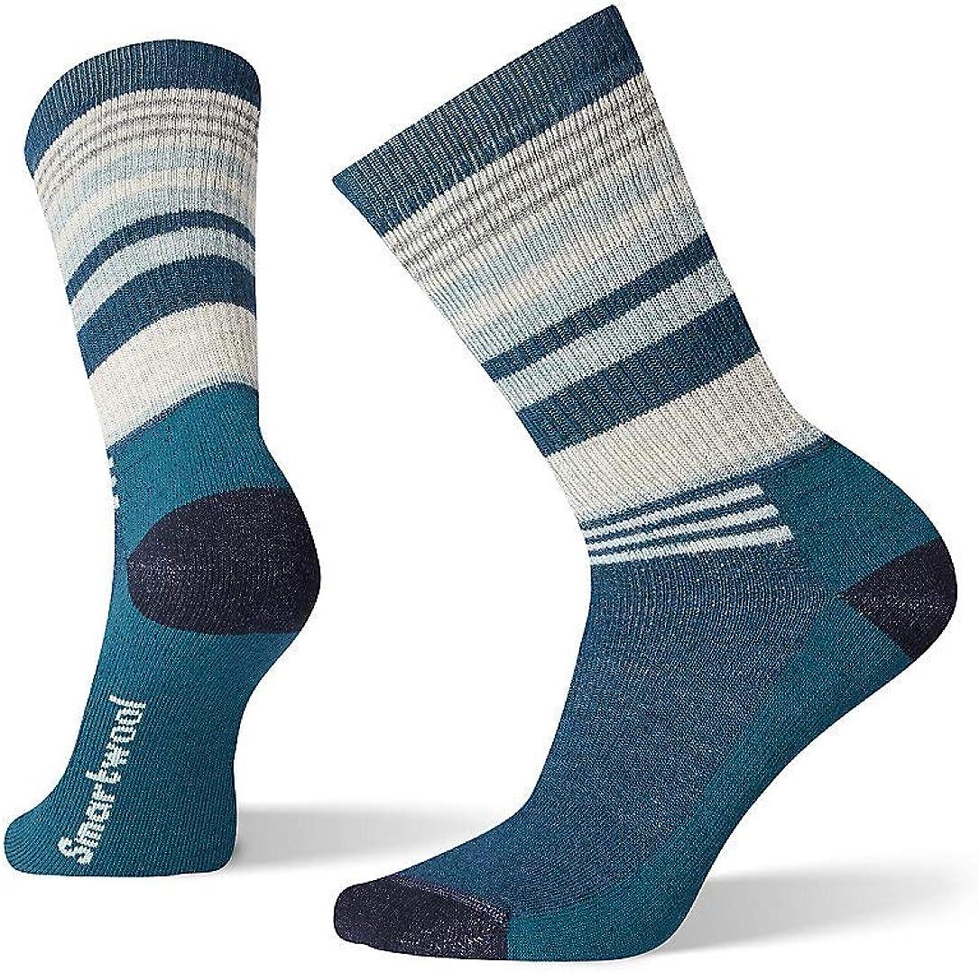 / Women/'s Striped Medium Cushioned Wool Performance Sock Smartwool Hiking Crew Socks