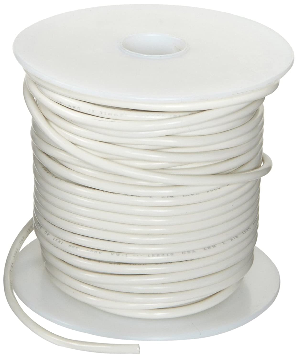 UL1061 Commercial Copper Wire, Bright, White, 14 AWG, 0.0641 ...