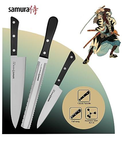 Compra Samura HARAKIRI Set de 3 Cuchillos profesionales de ...