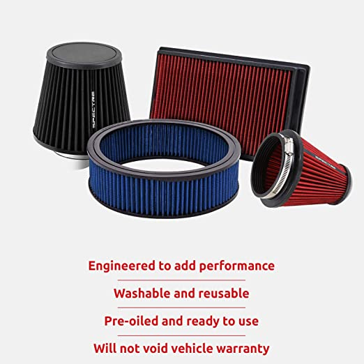 """3.5/"""" Cold Air Intake Filter Universal RED For C1500//C2500//Suburban"""