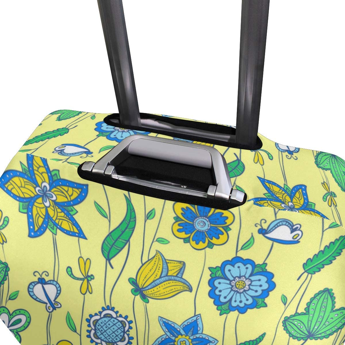 Floral Christmas Wrapping Paper Travel Luggage Protector Case Suitcase Protector For Man/&Woman Fits 18-32 Inch Luggage