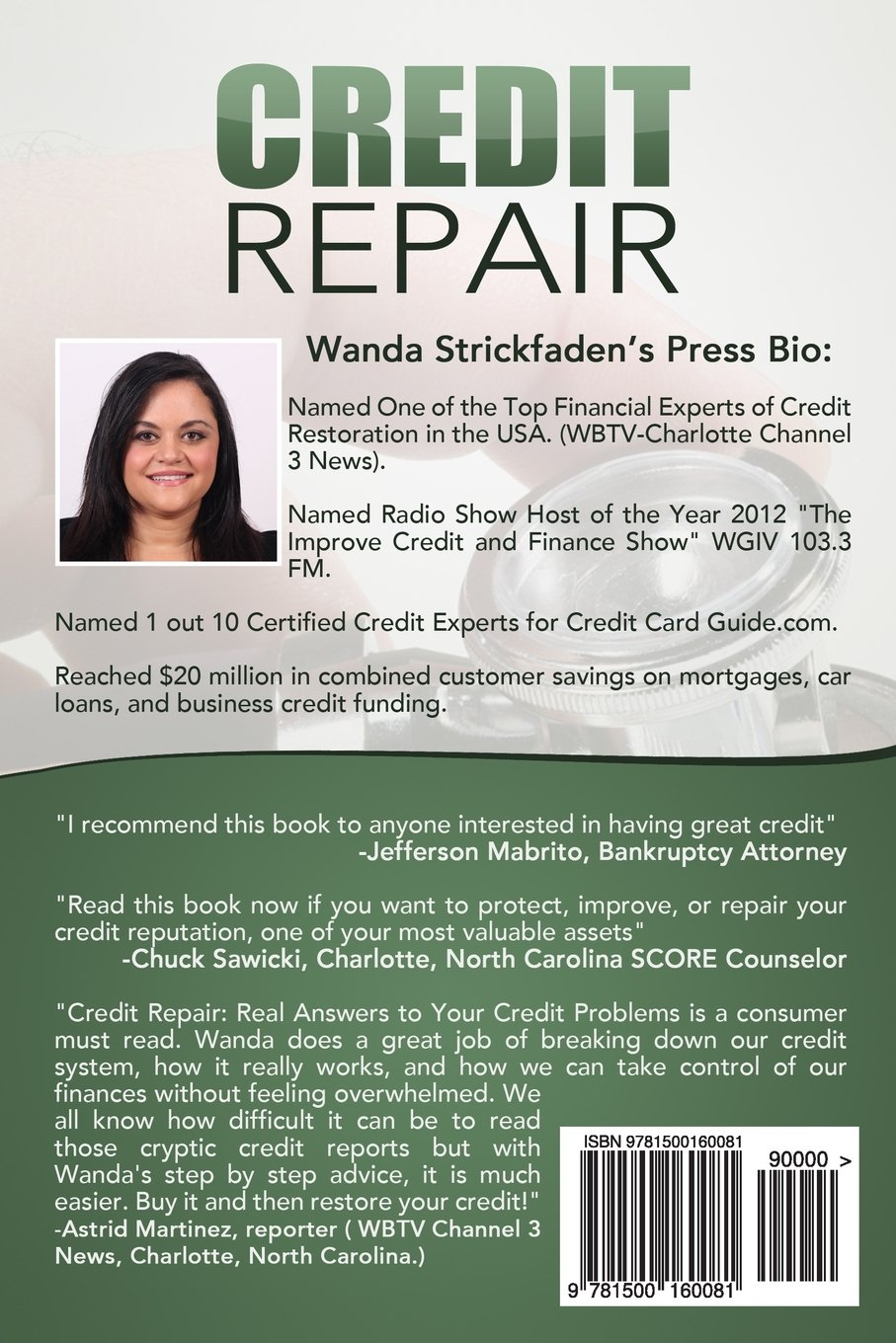 Credit repair real answers to your credit problems all time best credit repair real answers to your credit problems all time best selling book wanda strickfaden 9781500160081 amazon books colourmoves