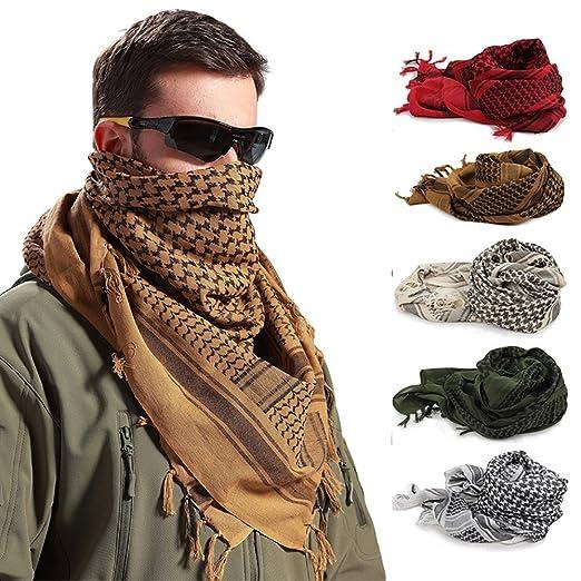 Oksale Military Men Scarves Arab Tactical Desert Army KeffIyeh Scarf Shawl  (Black) 131f5a9ef60a