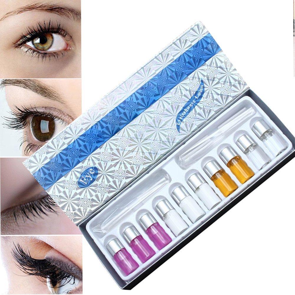 MLMSY Eyelash Perming Curling Kit Set Wave Lotion Liquid Eye Lashes Curler Tool Suitable for Long Eyelash or Short Eyelash (1 Set) (1 Set) GOURDOLL