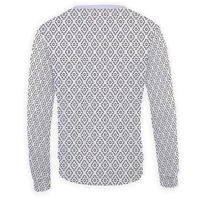 MOOCOM Mens Crewneck Geometric Sweatshirt
