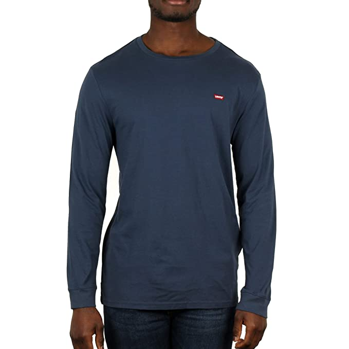Levis Original Hm tee, Camiseta para Hombre, Azul (LS Cotton + Patch Dress
