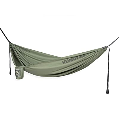 KLYMIT Traverse Hammock with Tree Straps and Carabiners, Best Camping Gear for Backpacking, and Camping: Sports & Outdoors