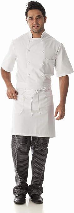 Ropa Camarero//Camarera MONZA OBREROL Delantal Hosteler/ía Profesional Corto Con Bolsillo Multiapartados Ref 6410