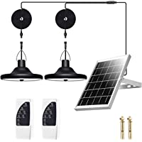 Solar Pendant Lights, 1000 Lumens Super Bright Solar Lights Outdoor, IP65 Waterproof Solar Lights with 32.8FT Cable and…