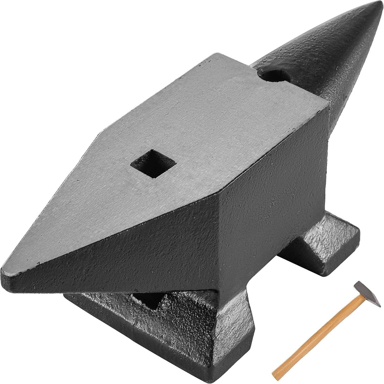 Mophorn Yunque de Acero 40KG Yunque de Metal Ideal para Taller Yunque de Acero Forjado con Agujeros Redondos y Cuadrados