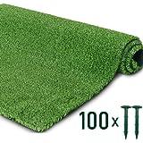 LSXIAO سياج شاشة للخصوصية في العشب نبات صناعي مقاوم للماء والغبار مع بطانة مطاطية بفتحة تصريف مع 100 مسمار للحديقة…