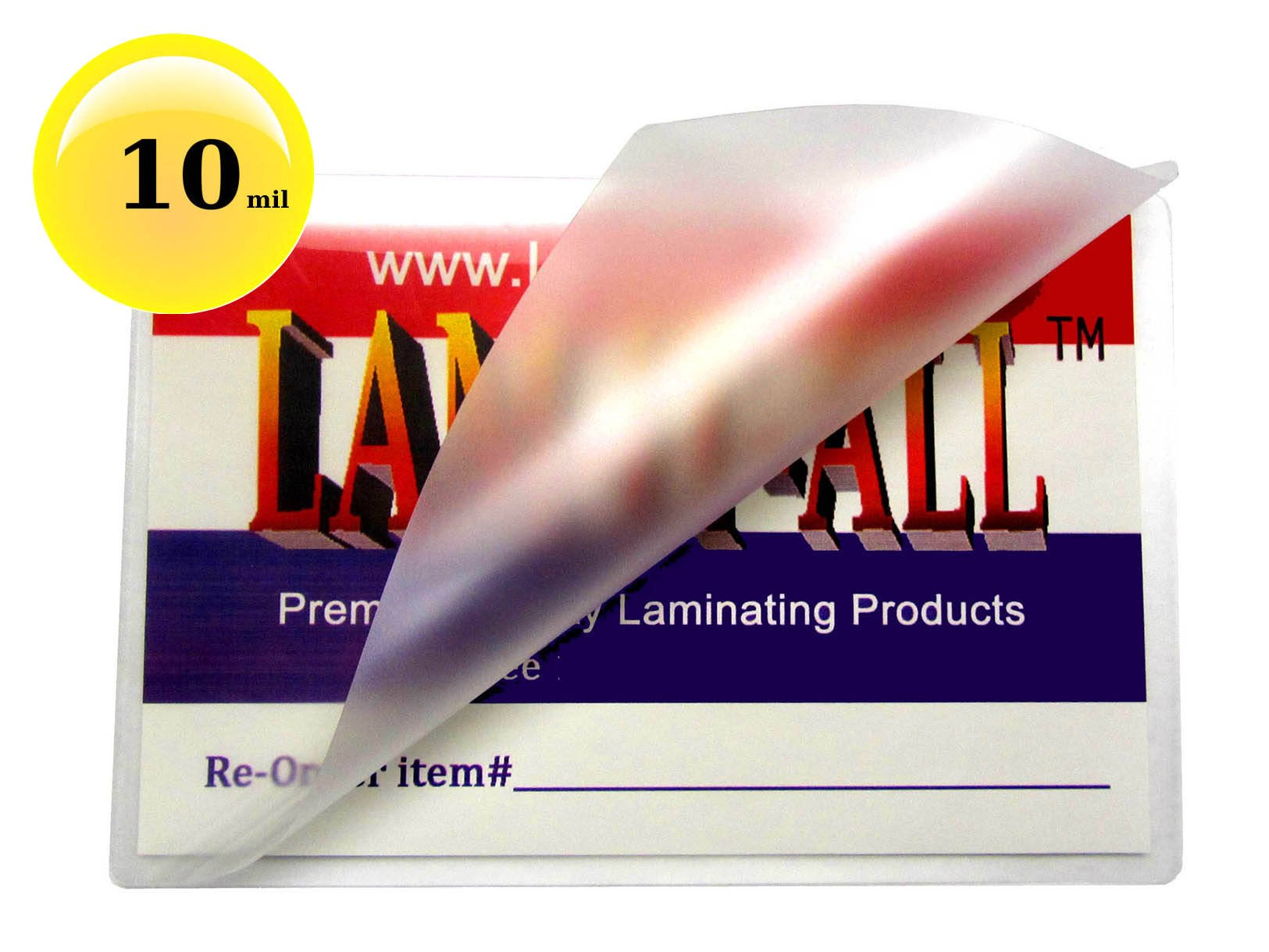 10 Mil Business Card Laminating Pouches 2-1/4 x 3-3/4 Laminator Sleeves [Pk of 100] by LAM-IT-ALL