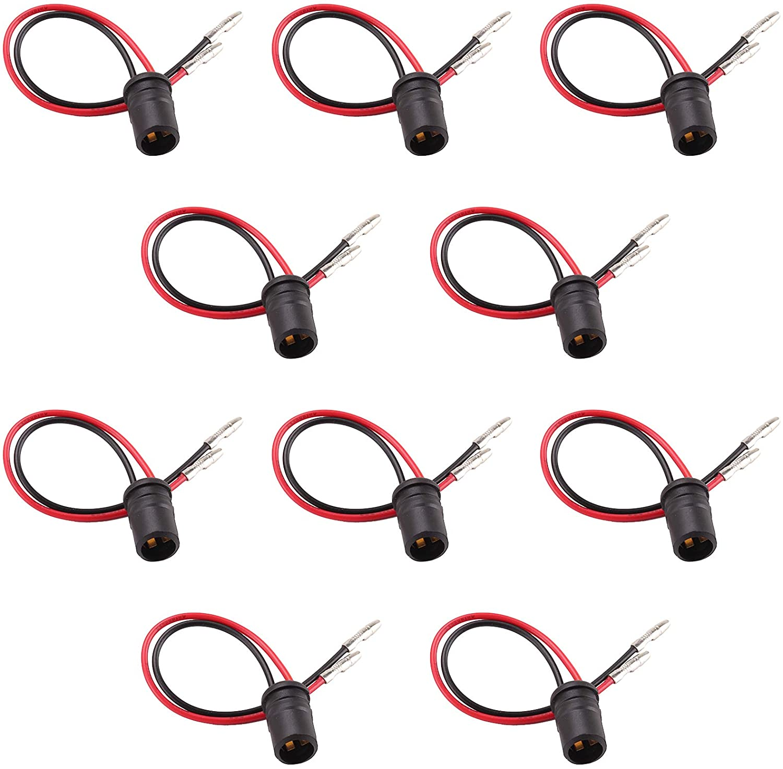 Kinstecks 10PCS T10 LED Socket Holder LED Light Bulb Extension Socket Auto Car Light Rubber Bulb Holder Bulb Lamp Holder for Auto Car Motorcycle