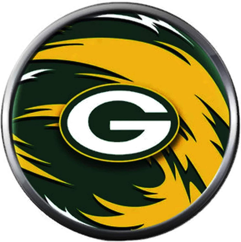 Amazon Com Nfl Green Bay Packers Swirl Logo Football Fan Team Spirit 18mm 20mm Fashion Snap Charm Jewelry
