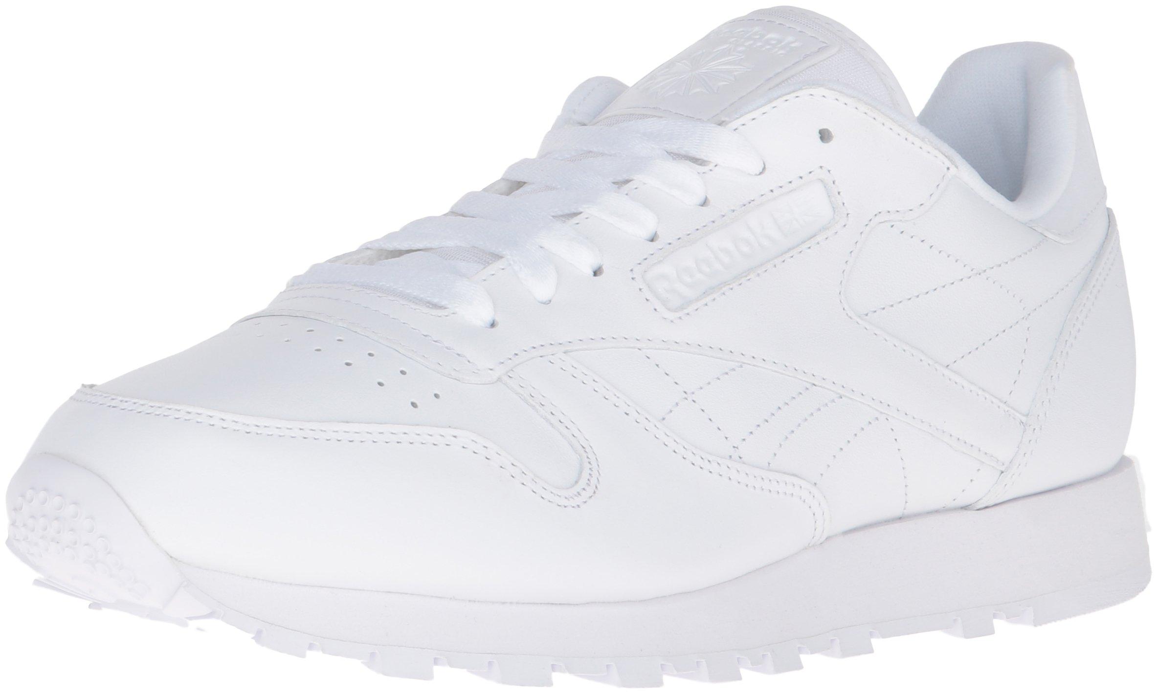 Reebok Men's Cl Lthr Fashion Sneaker, US-WHITE/White/White, 11 M US by Reebok (Image #1)