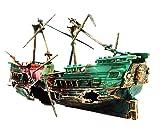 【19blue】 沈没船 アクアリウム 水槽 オブジェ オーナメント