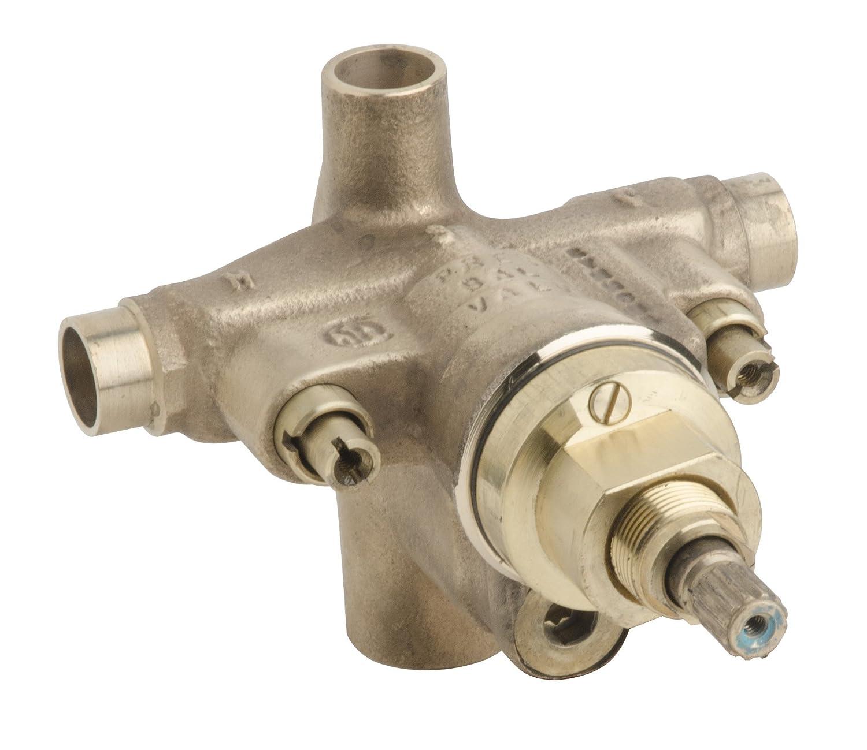 symmons s462xbody temptrol pressure balancing tubshower valve body with integral diverter u0026 stops brass amazoncom - Shower Valves