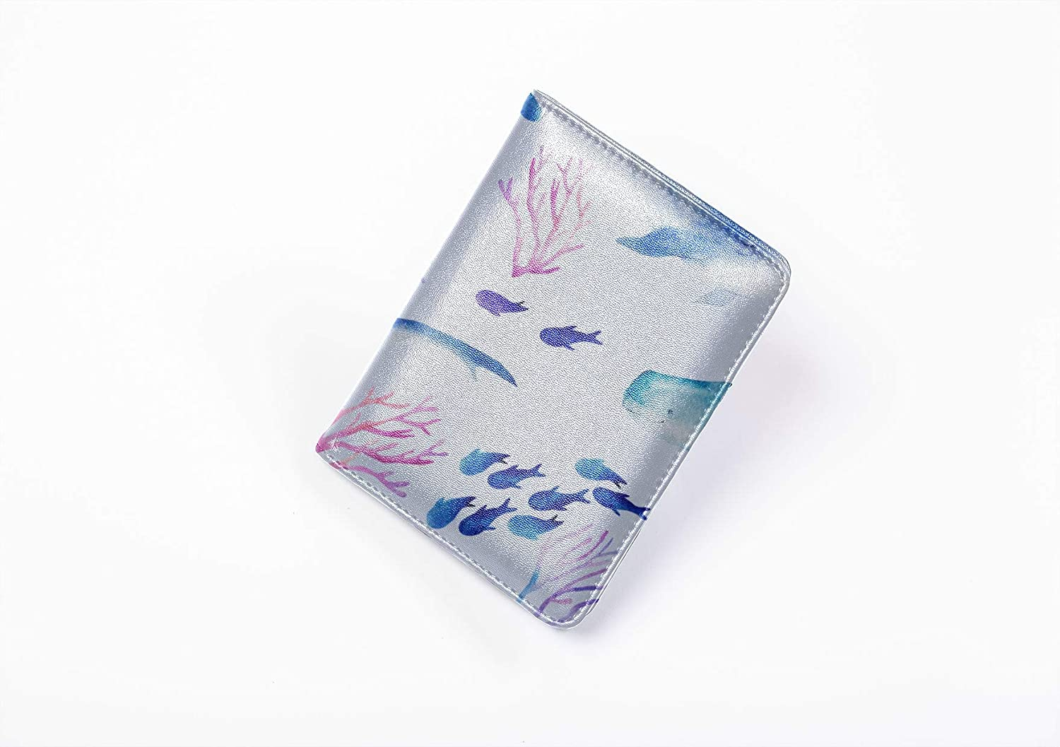 Funny Passport Cover Fashion Delicious Funny Fish Squid Waterproof Passport Case Multi Purpose Print Unique Passport Cover Travel Wallets For Unisex 5.51x4.37 Inch