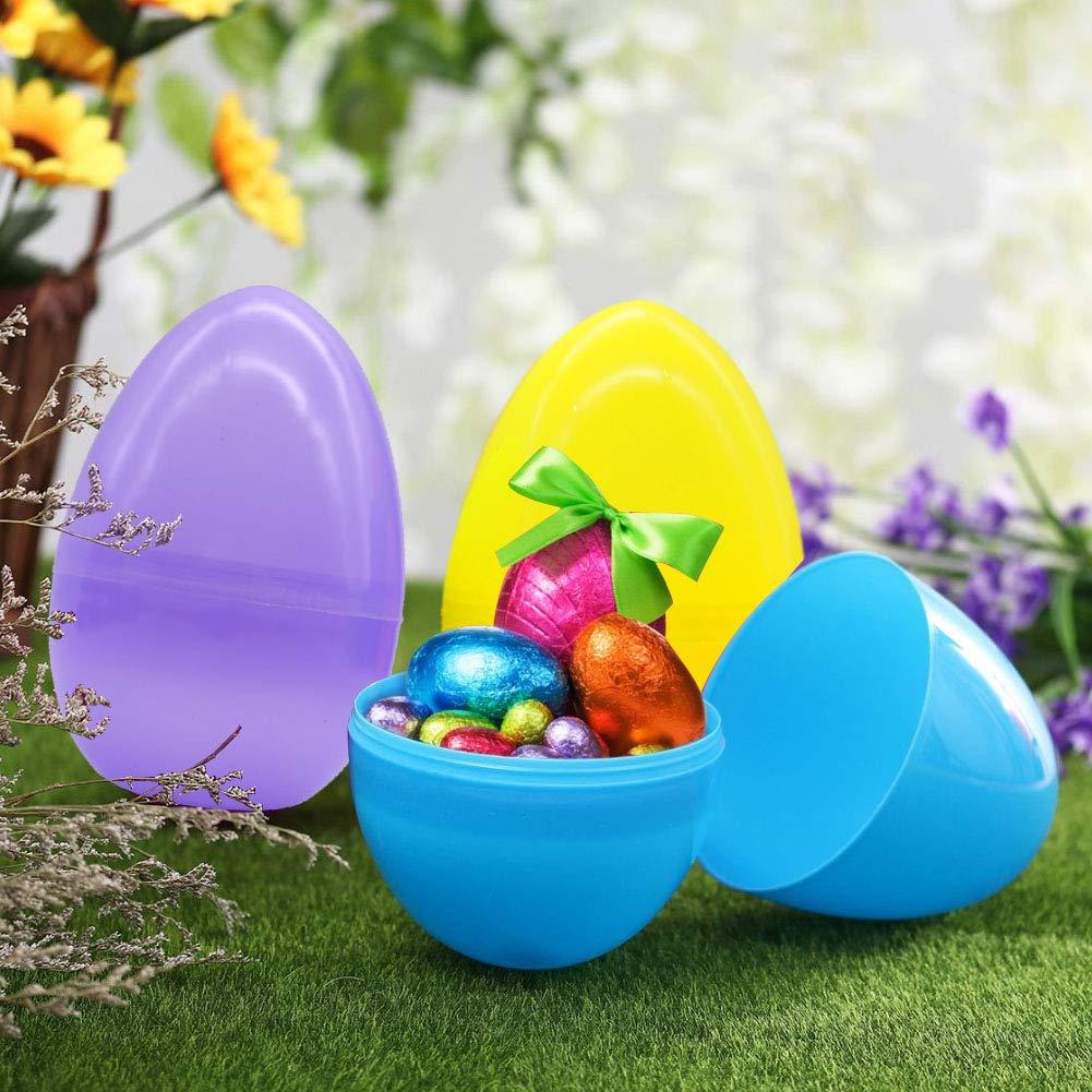 Koogel 24Pcs Bunny Easter Eggs,20 Pcs 3.2 inch Easter Eggs with Plush Bunny 4Pcs 4.3 inch Big Easter Eggs with Plush Bunny for Easter Egg Hunt/Surprise Egg/Easter Hunt