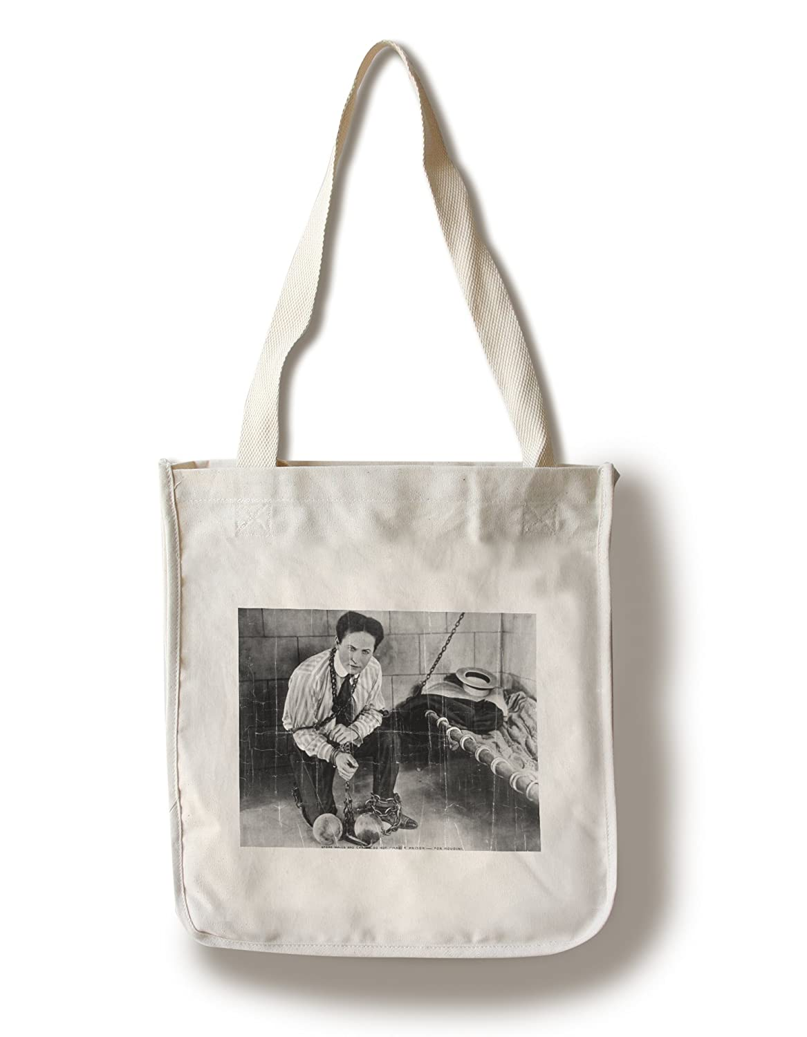 ハリーフーディーニabout to escapeからPrison写真 Canvas Tote Bag LANT-3674-TT B0182QV8P4 Canvas Tote Bag