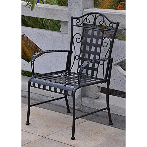 International Caravan Mandalay Iron Patio Chair – Set of 2
