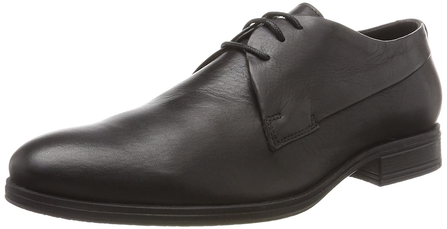 Jack & Jones Jfwsammy Leather Anthracite, Zapatos de Cordones Brogue para Hombre