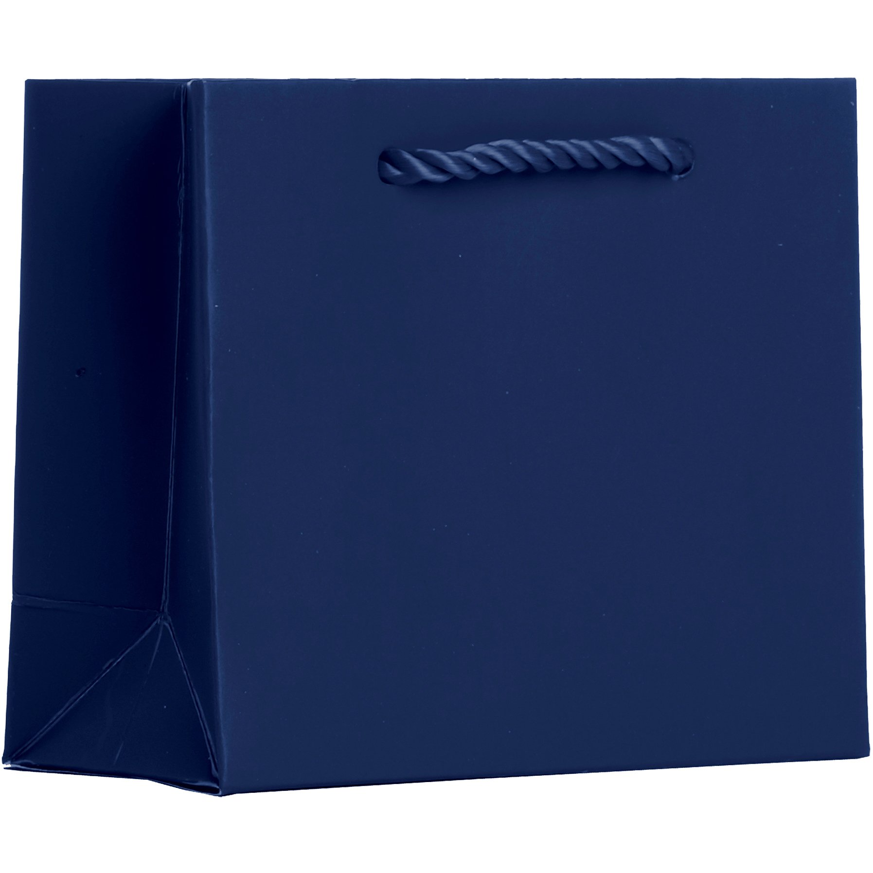 Jillson Roberts BTT926.1 Bulk 120-Count Tiny Tote 5'' x 4'' x 2'' Matte-Finish Gift Bags Available in 13 Colors, Navy Blue