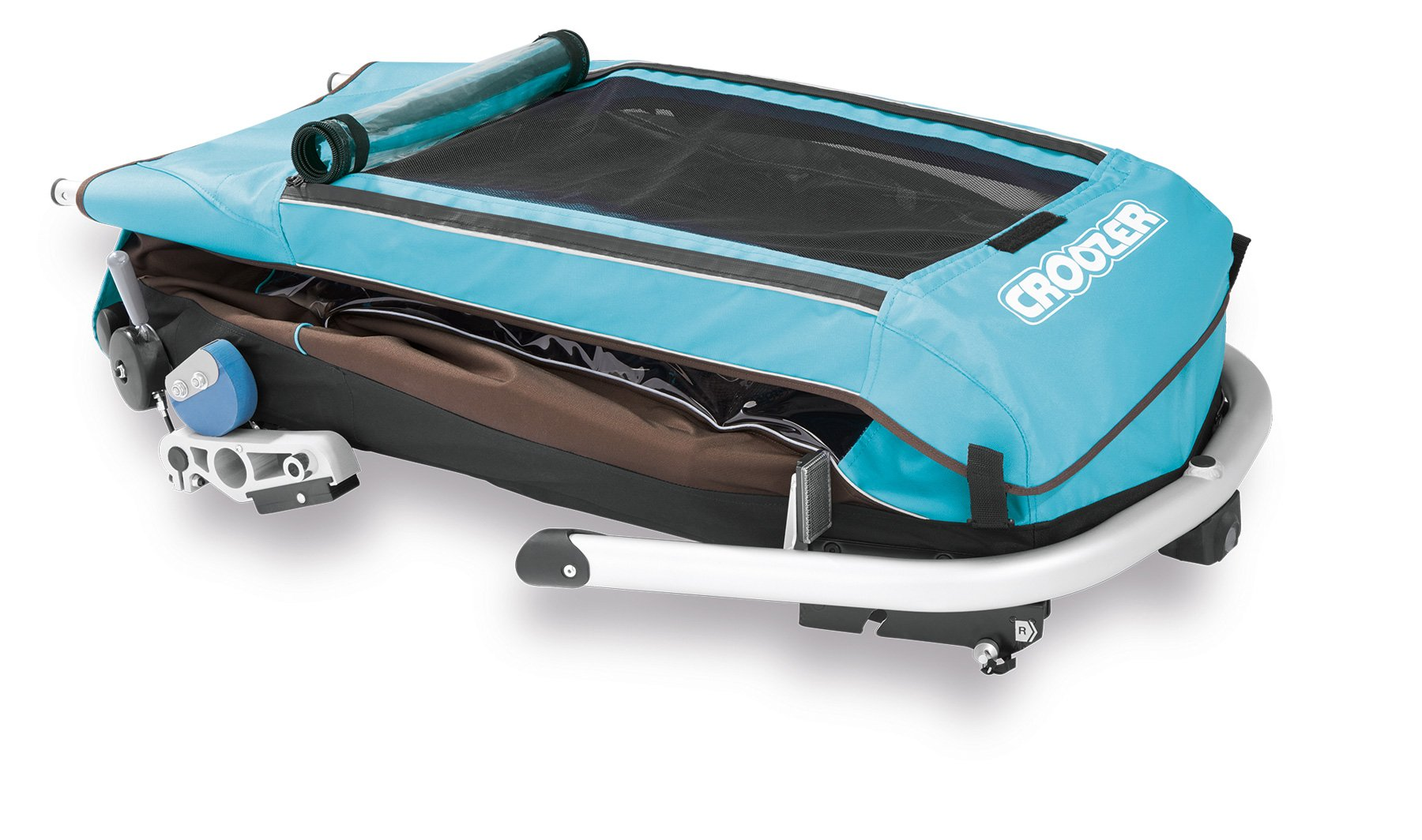 Croozer Kid Plus for 1 - 3 in 1 Single Child Trailer Sky Blue / Brown by Croozer (Image #5)