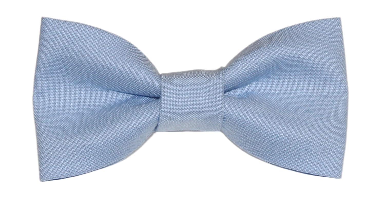 amy2004marie Toddler Boy 3T 4T Cornflower Blue Clip On Cotton Bow Tie