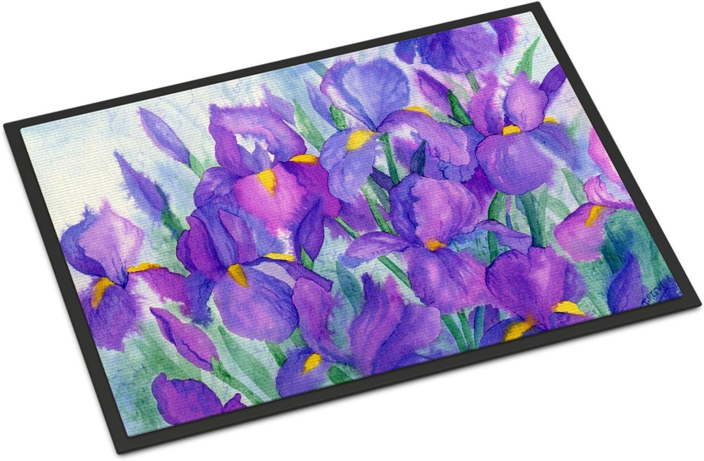 Caroline s Treasures IBD0256JMAT Purple Iris Indoor or Outdoor Mat 24×36, 24H X 36W, Multicolor