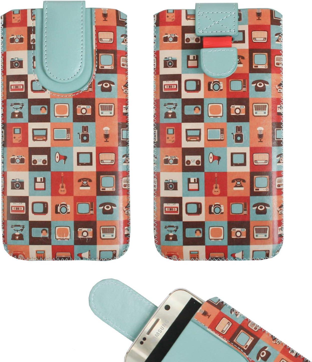 Emartbuy Gadgets Cuero Premium PU Deslizar en Funda Case Tipo Bolsa (Talla LM5) con Mecanismo de Lengüeta Adecuado para Teléfonos Inteligentes Que Figuran a Continuación: Amazon.es: Electrónica