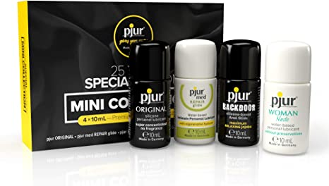 pjur Mini Collection - 25-Year Special Edition - 4X 10 ml Premium Personal  Lubricants to Test and Try: Amazon.co.uk: Health  Personal Care