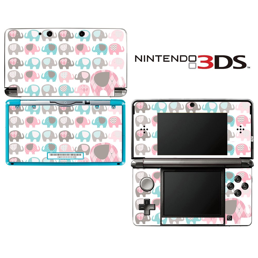 Elephant Pattern Decorative Video Game Decal Cover Skin Protector for Nintendo 3Ds (not 3DS XL)