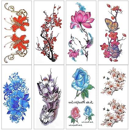 Lady Up 20 Hojas Tatuajes De Cuerpo Temporales Con Increíbles