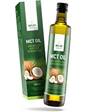 MCT Oil for Keto Diet or Bulletproof-Coffee from 100% Coconut - Caprylic Acid C8 and C10 flavorless & odorless, Paleo & Vegan Friendly 500ml