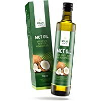 MCT Oil for Bulletproof Coffee 500ml – 100% Pure from Biological Coconuts Flavorless & Odorless