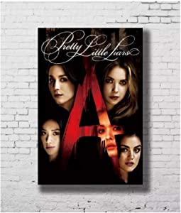 Pretty Little Liars TV Show Poster Wall Art Canvas Painting Room Decor Unique Artwork -24x32 Inch(60x80cm) No Frame