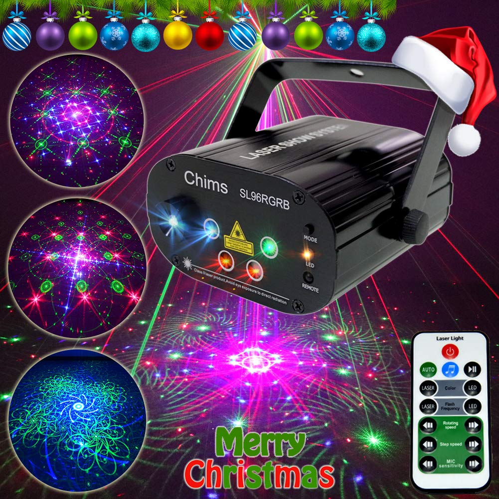 Amazon.com: Chims DJ Proyector de luces láser para fiesta ...