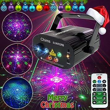 Amazon.com: Chims DJ Proyector de luces láser para fiesta ...